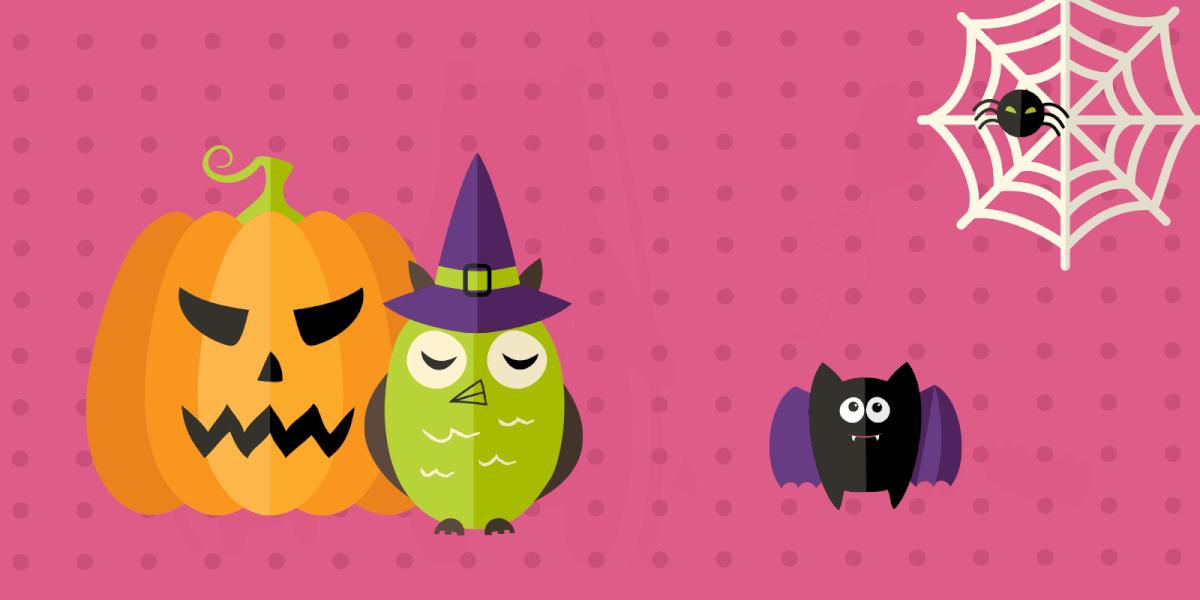 Halloween pumpkin-owl-bat-spider