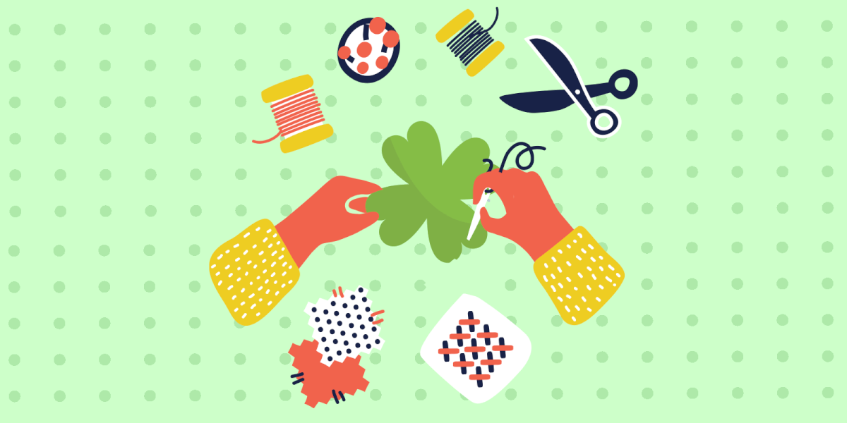 Making crafts with kids for St. Patrick's Day