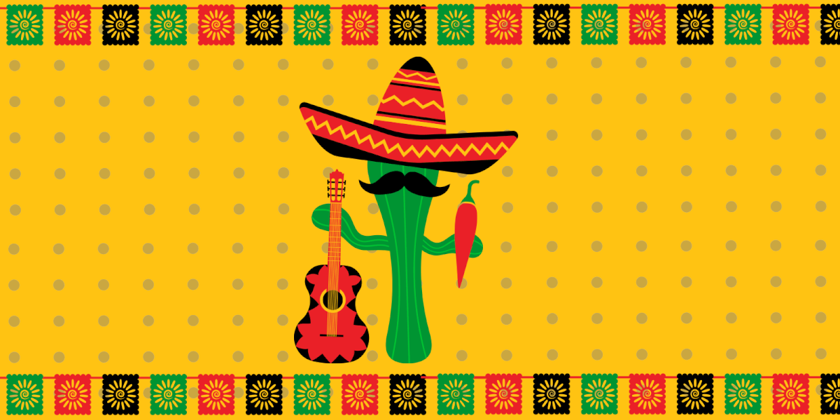 Cactus with guitar celebration