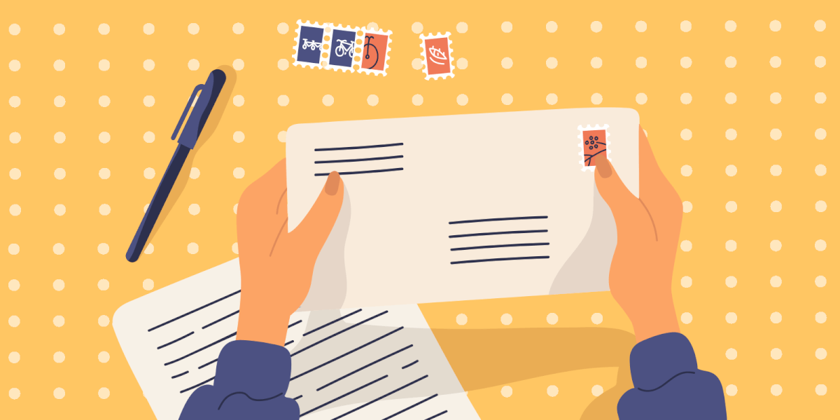 Sending a hand written letter