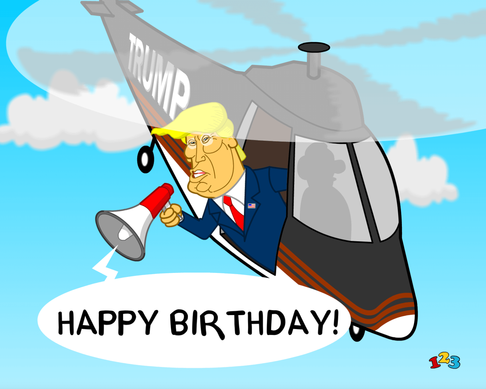 picture regarding Donald Trump Birthday Card Printable known as Trump birthday